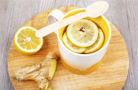 Gyömbéres-citromos fogyasztó víz