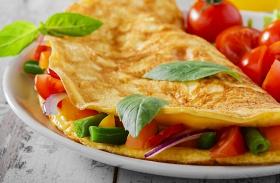 Zöldséges omlett reggelire