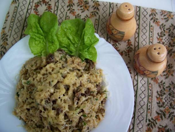 Kakukkfüves sajtos-gombás rizs