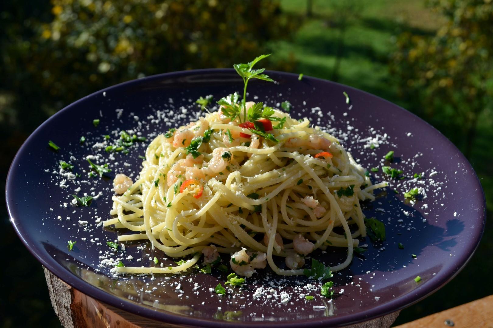 Koktélrákos spagetti
