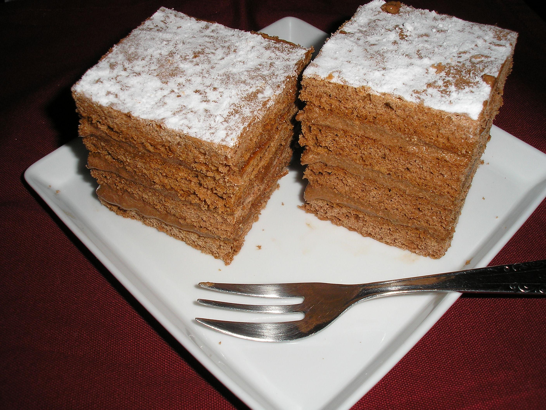 Csokis-karamellás krémes kocka