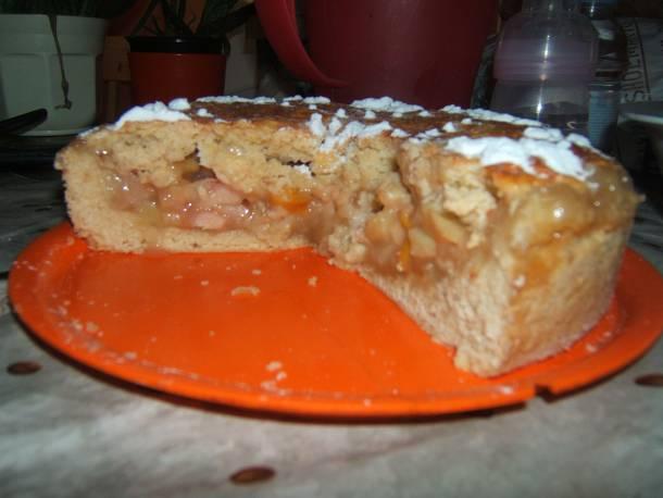 Almás őszibarackos pite