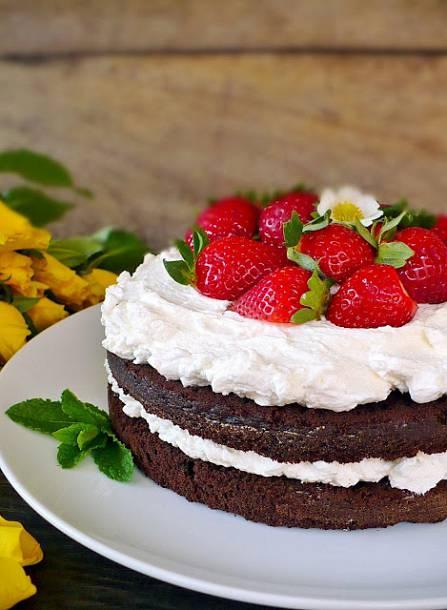 Mentás csokitorta, fehércsokis - mascarpone krémmel