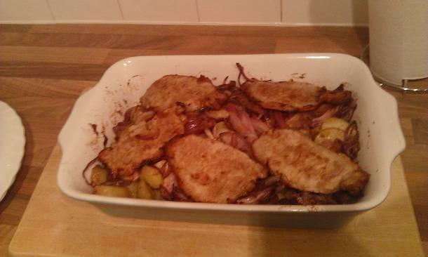 Hagymás-burgonyás hús