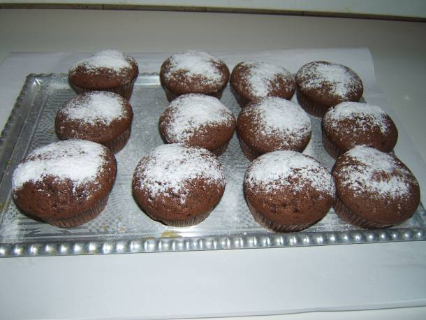 Tejbegrízzel töltött csokis muffin