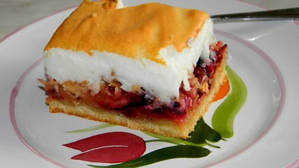 Habos-szilvás sütemény