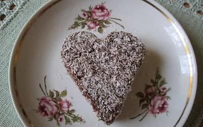 Kókuszos-mártott sütemény