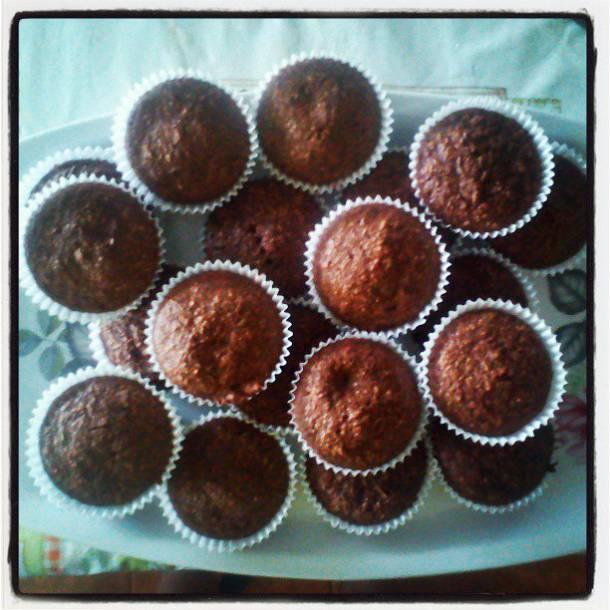Csokis-kókuszos muffin