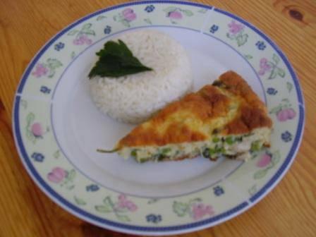 Zöldborsós csirkefelfújt