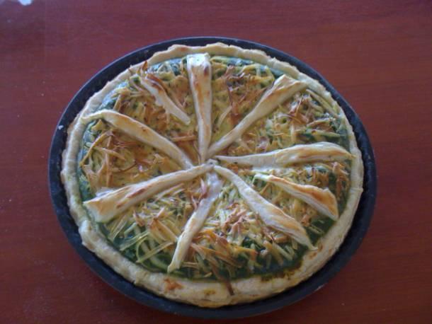 Spenótos-sajtos pite