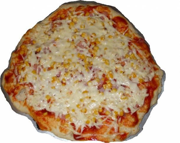 Tuti sajtos-sonkás pizza