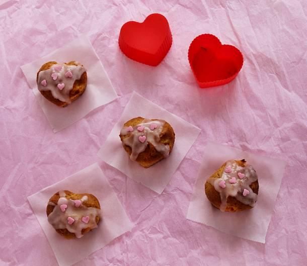 Narancsos muffin Valentin-napra