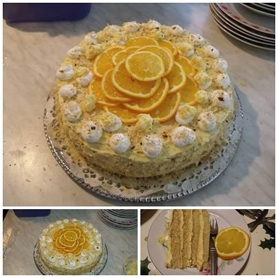 Narancsos marmelád torta