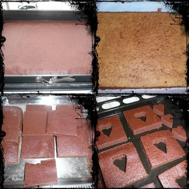 Szívecskés brownie