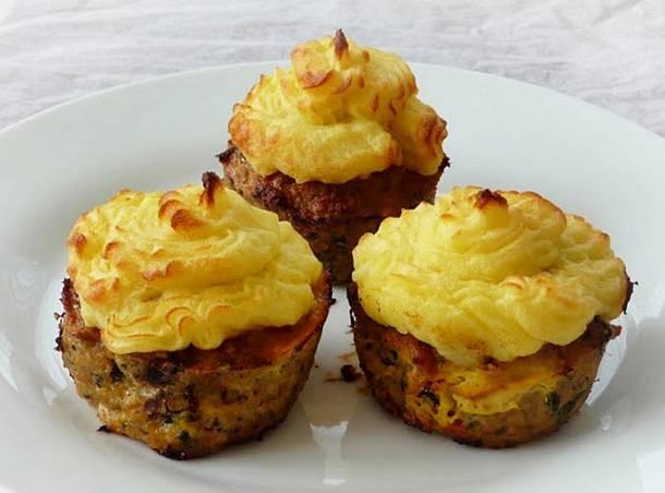 Fasírt-muffin krumplipürével
