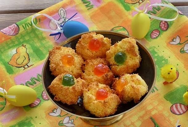 Húsvéti kókuszos macaron
