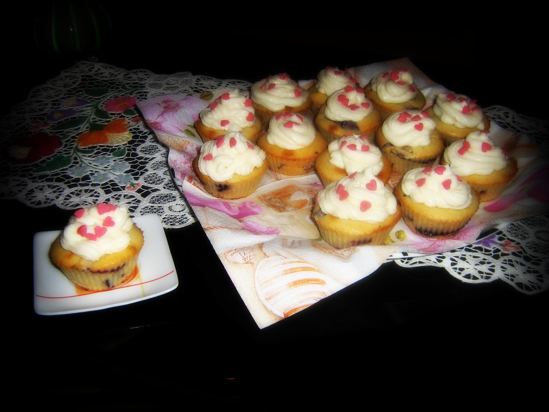 Szilvás muffin mascarponekrémmel