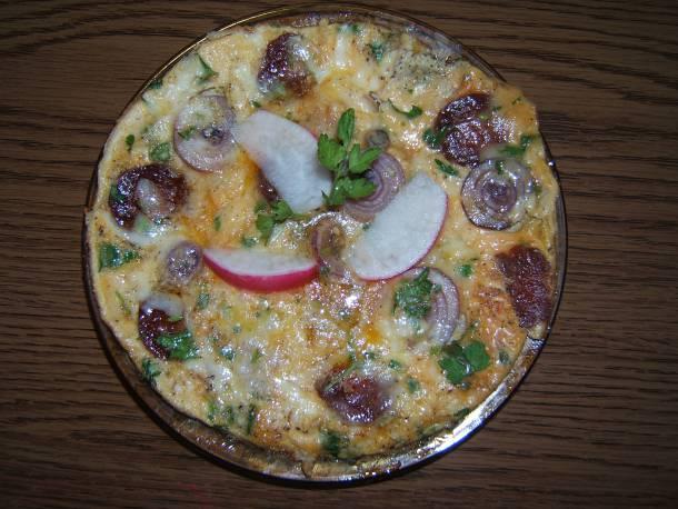 Kolbászos sajtos omlett