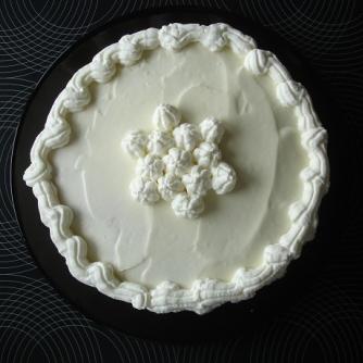 Fehércsokoládés, karamelles torta