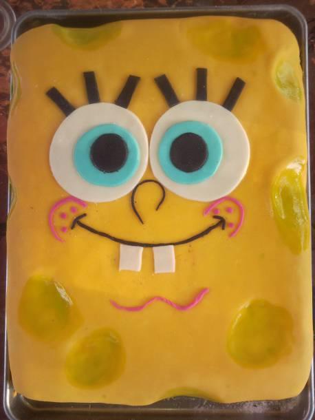 Spongyabob Szülinapi torta