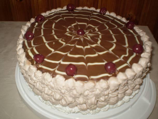 Csupa krém meggyes torta