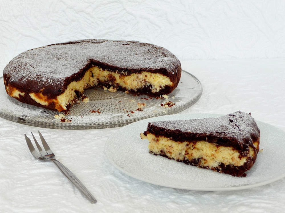 Bounty-brownie torta