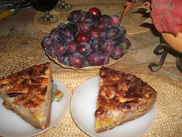 Rumos-vaníliás szilvás süti