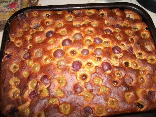 Muskotályszőlős túrós süti