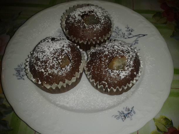 Csokoládés-körtés muffin
