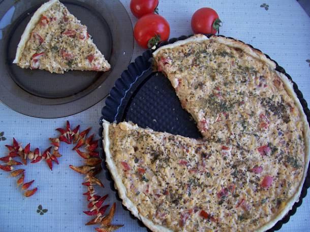 Tejfölös-hagymás pite