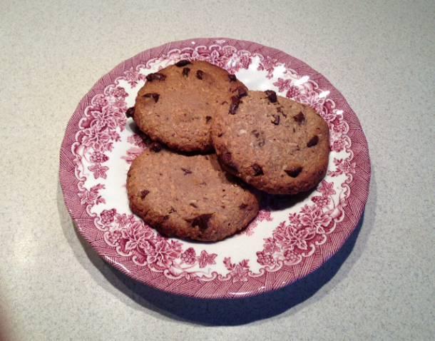 Kókuszos-csokoládés cookie (keksz)