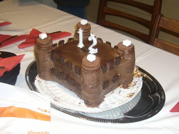 Csupa csoki vár torta