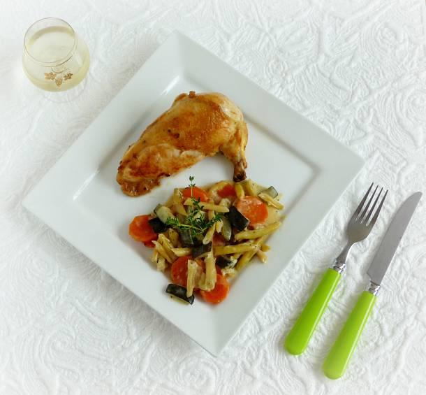 Csirkemell sajtkrémes zöldségekkel