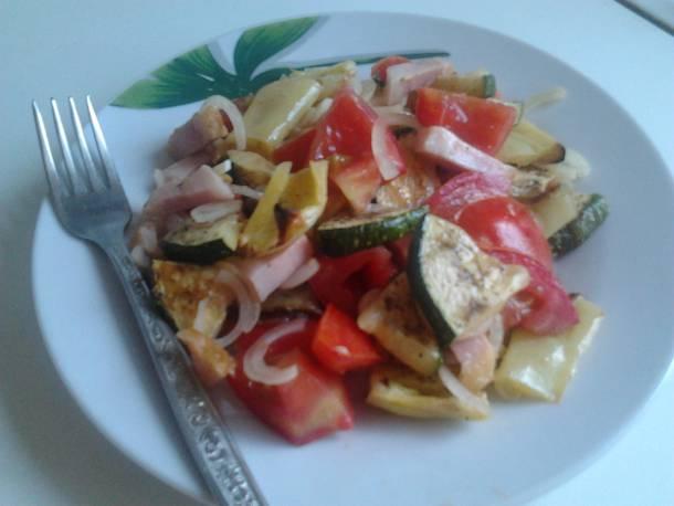 Grillezett zöldséges saláta