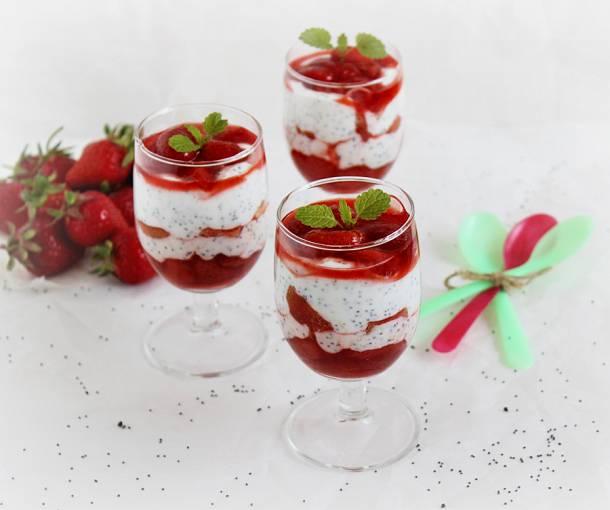Epres-mákos pohárkrém