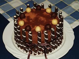 Marcipános mascarponés csokitorta