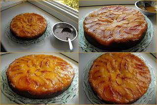 Fordított barackos torta (Tarte Tatin barackkal)