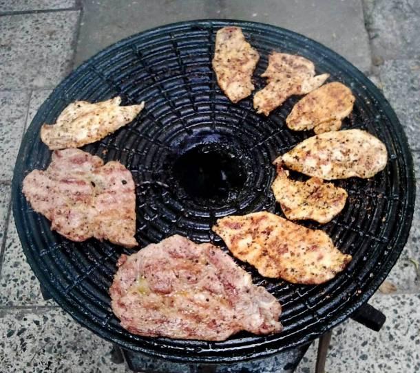 Grillezett csirkemell és tarja