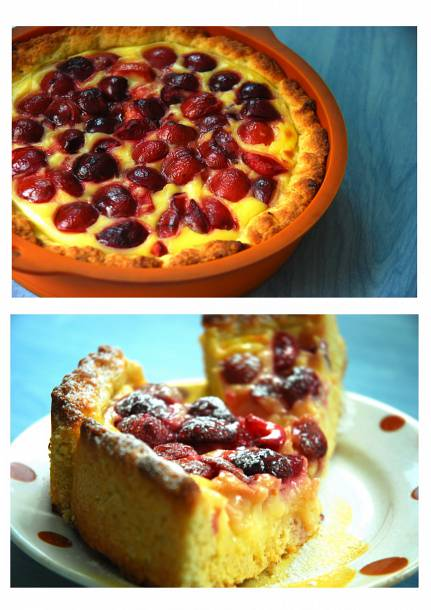 Cseresznyés-vaníliás pite