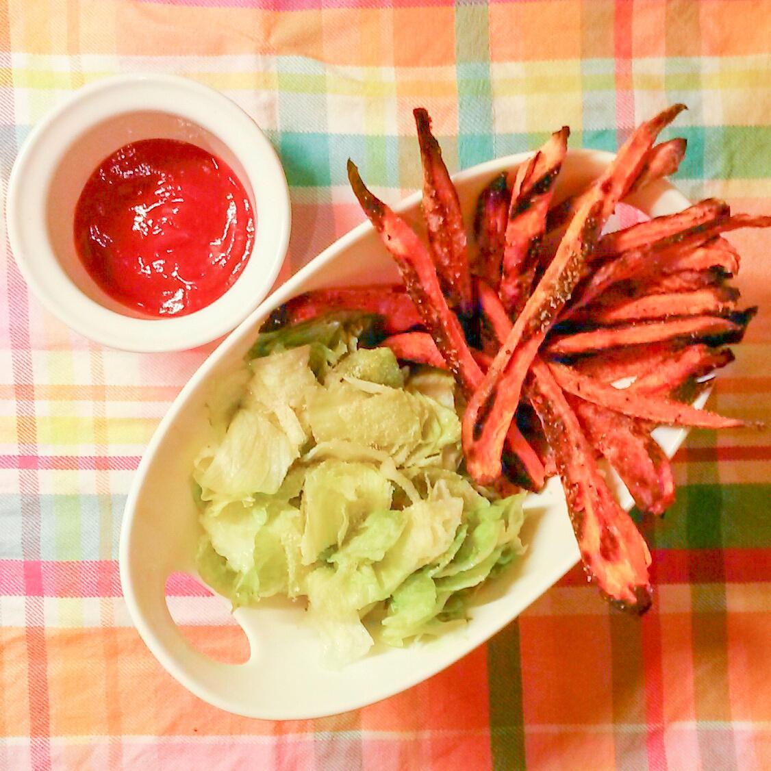 Édesburgony chips salátával
