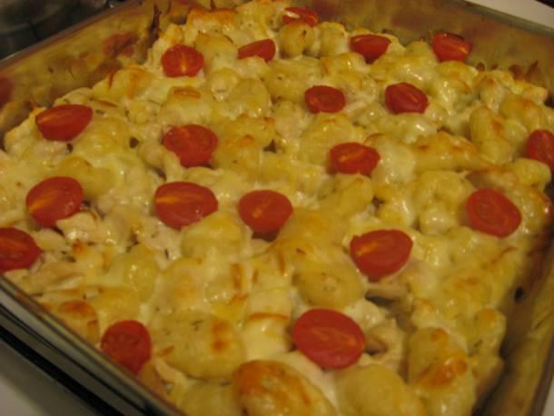 Rozmaringos-csirkés gnocchi