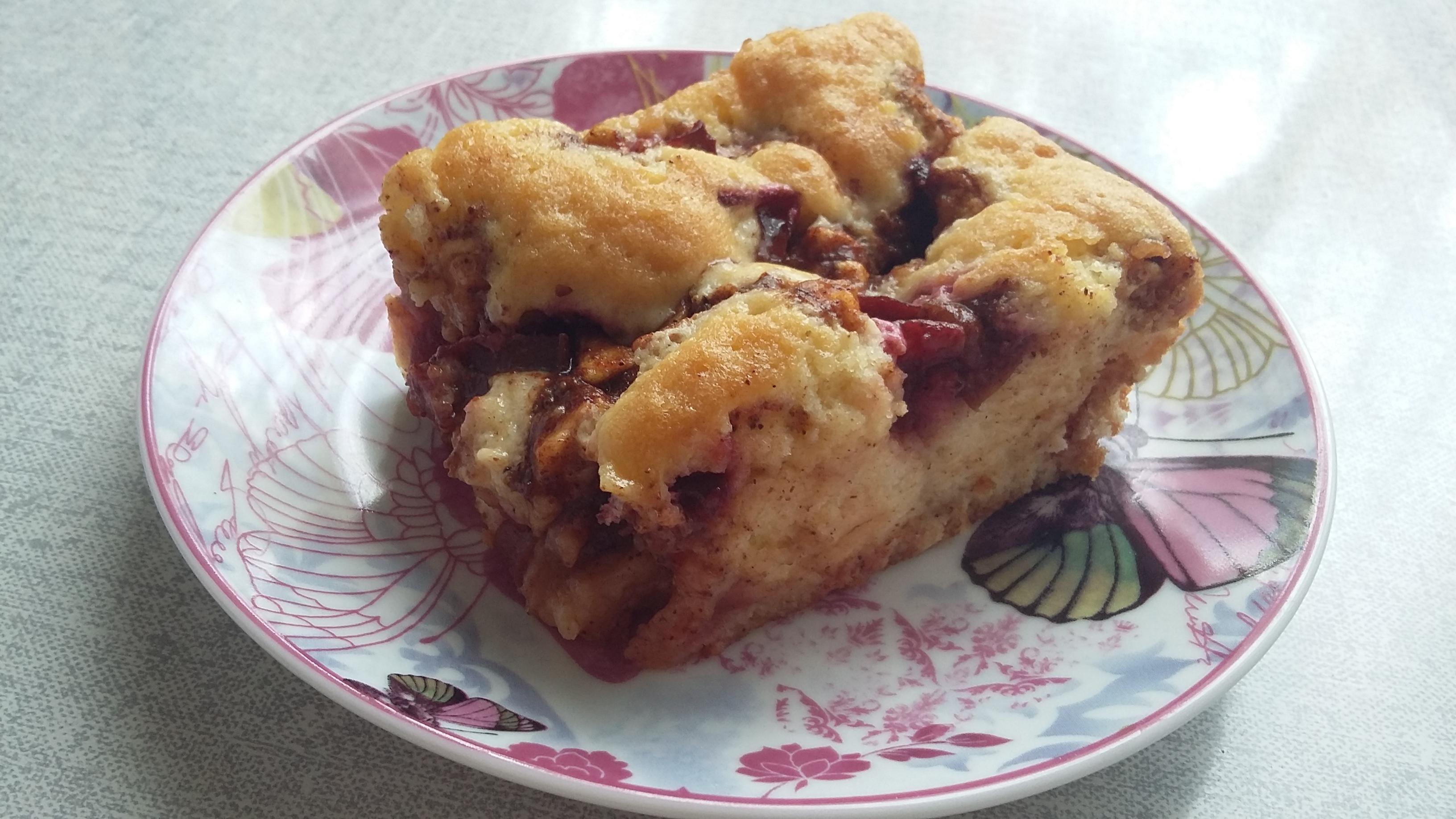 Szilvás-almás süti