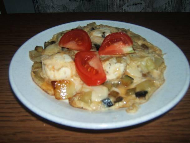 Padlizsános omlett