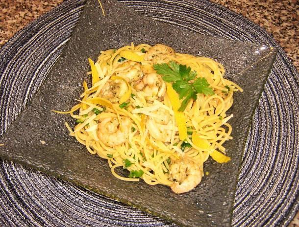 Citromos-garnélás spagetti