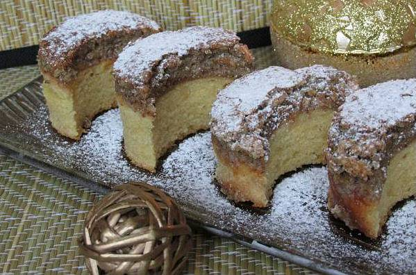 Diós-holdas sütemény