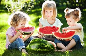 Görögdinnye-allergia tünetei