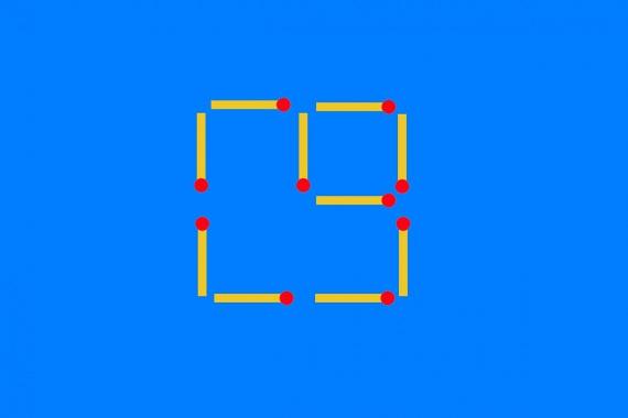 3. feladat megoldása, melynek eredményeként egy nagy és egy kisebb négyzeted marad.