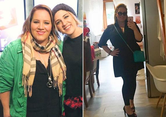 Tóth Vera egész alakos fotóval bizonyította, hogy mennyit fogyott tavaly november óta (bal oldali fotó). Az énekesnő a kemény és kitartó diétának köszönhetően több mint 20 kilótól szabadult meg pár hónap alatt - árulta el a húga.