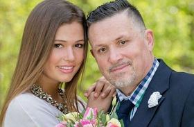 Galambos Lajos lányával