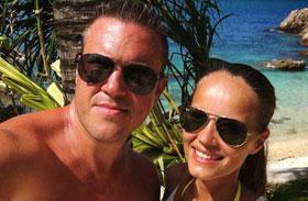 Kasza Tibi barátnője bikiniben